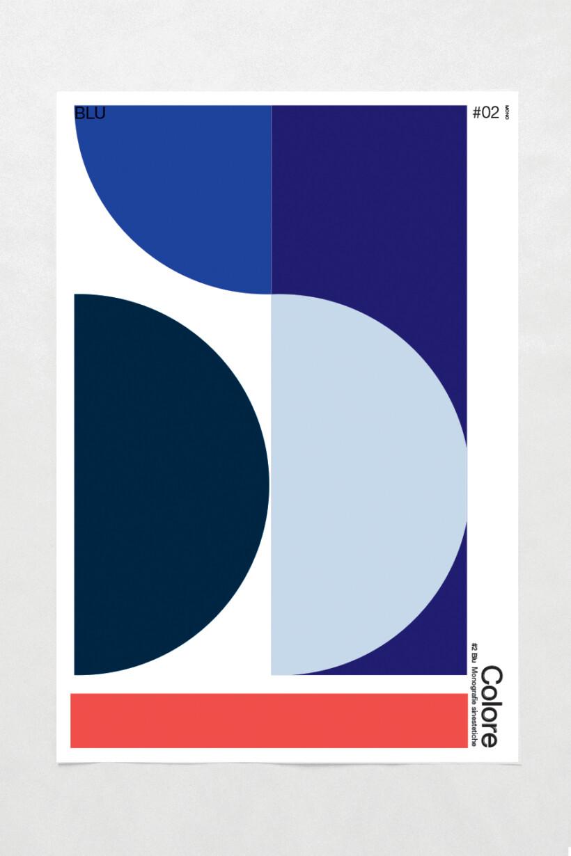 COLORE: Monografie sinestetiche<br> 02 BLU / POSTER MAGAZINE